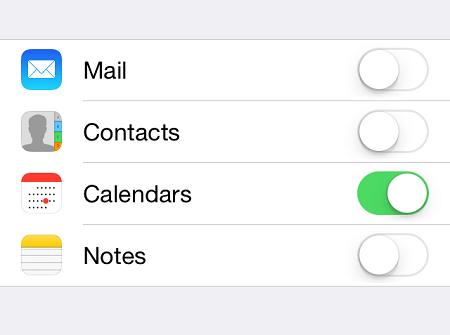 como sincronizar calendarios con iphone