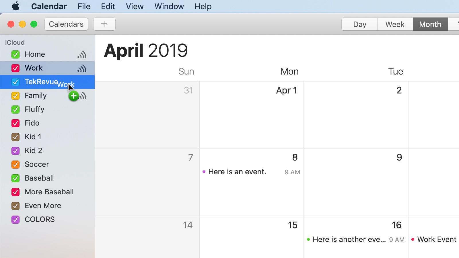 Icloud Calendar.How To Merge Icloud Calendars On The Mac