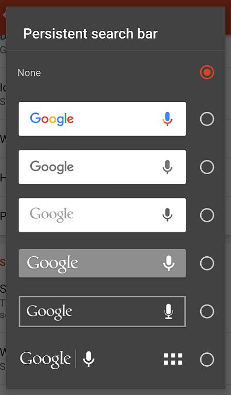 nova search bar