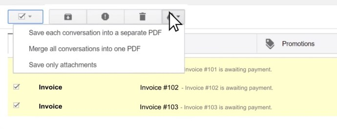 save gmail messages on google drive