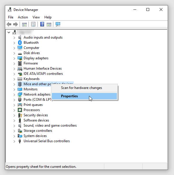 stop mouse from waking windows