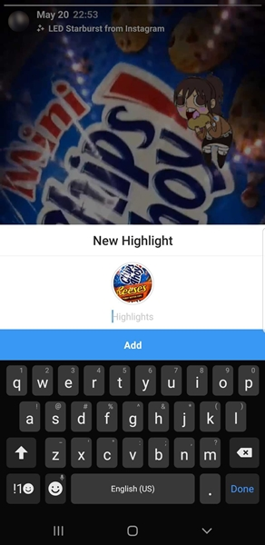 Add highlight to Instagram without posting