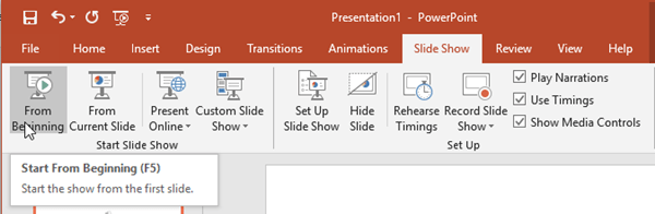 Automatically play PowerPoint audio