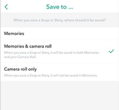 Snapchat Hikayelerini Otomatik Olarak Kaydedin