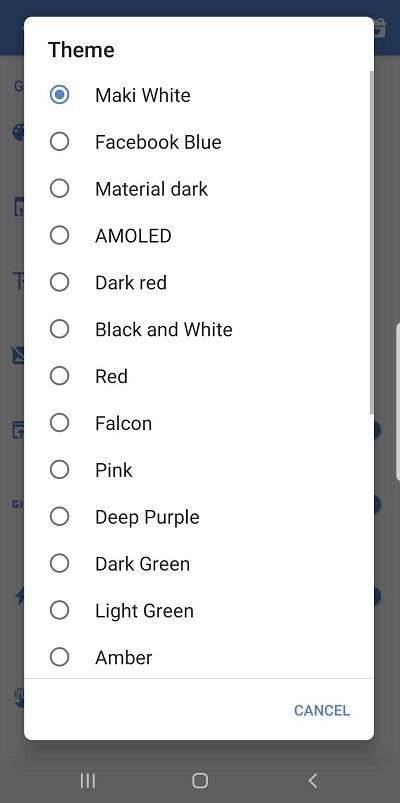 Dark Mode on Facebook