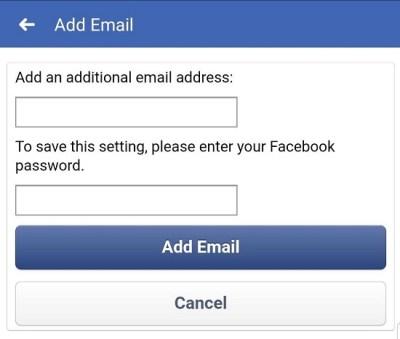 Facebook Как изменить адрес электронной почты