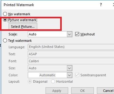 How Insert Watermark in Word