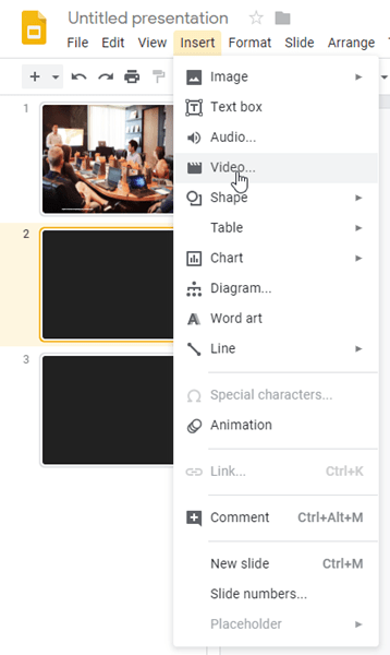 Play audio automatically in Google Slides