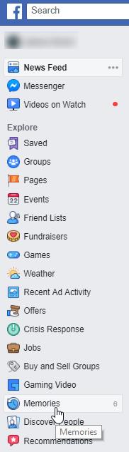 See Facebook Memories