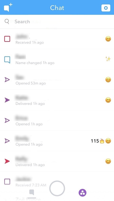Snapchat What does the open icon mean
