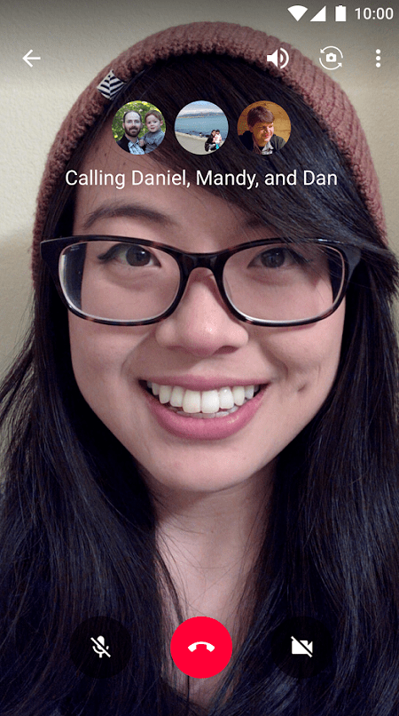 Launch Google Hangout for Android