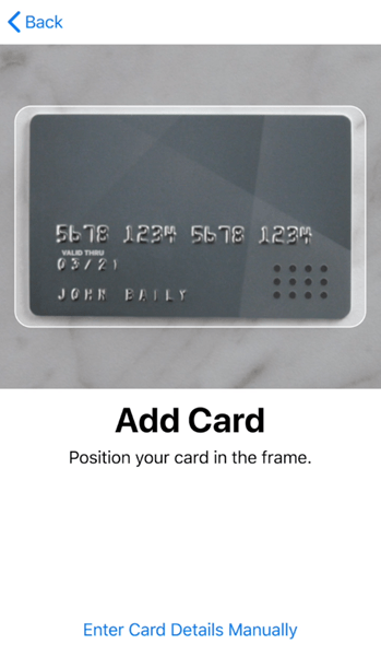 To Activate Apple Pay