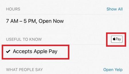 Use Apple Pay Chains and Stores
