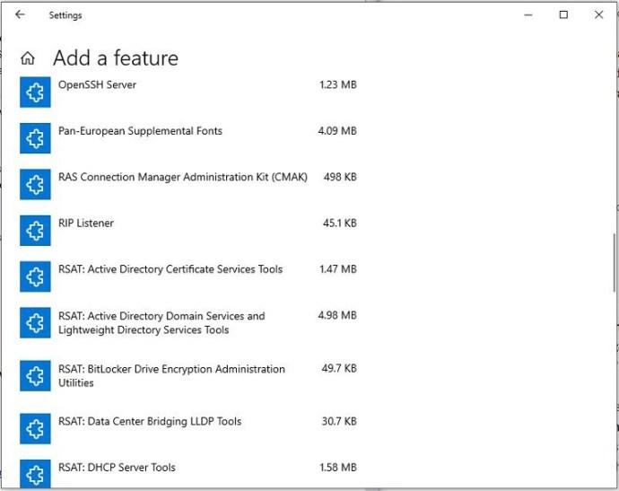 Windows 10 1809+ RSAT Installation