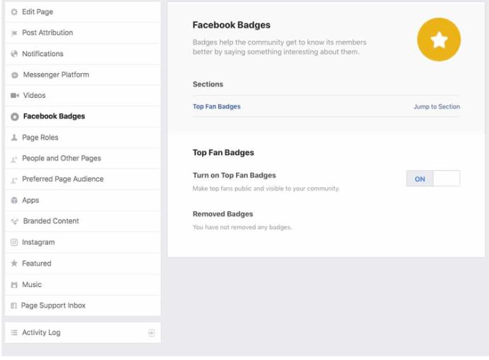 Alle Facebook-Abzeichen - Screenshot 2