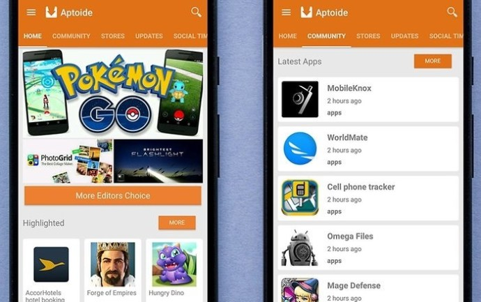download Android applications without Google Play