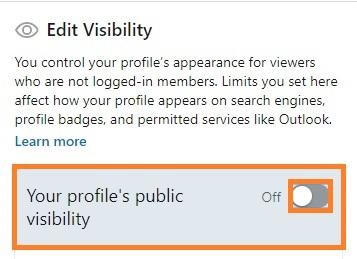 edit visibility