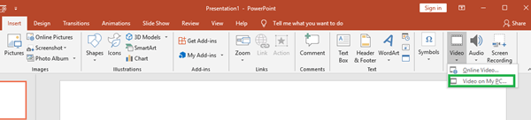 play video in PowerPoint