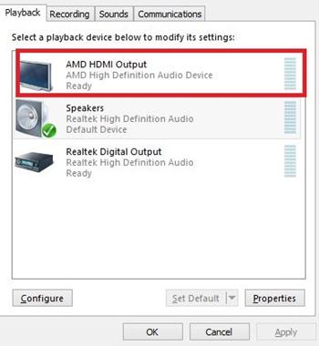AMD HDMI Output