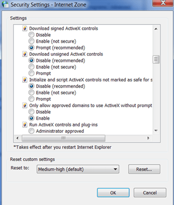ActiveX Enable Config