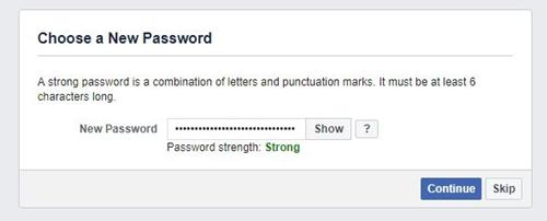 Wähle ein neues Passwort