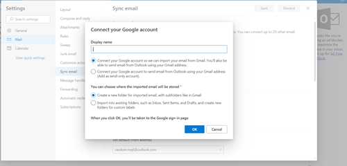 Link your Google Account