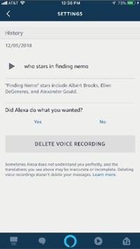 Delete Recordings via Alexa