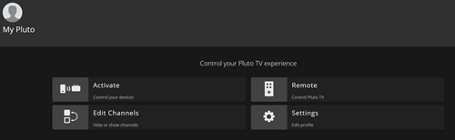 Edit Channels on Pluto TV