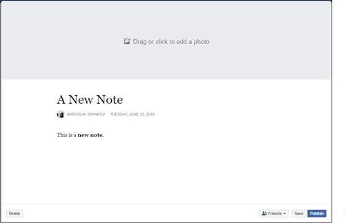 Facebook note