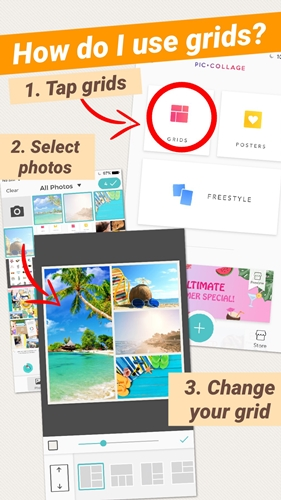 How to make photo collage on Ipad