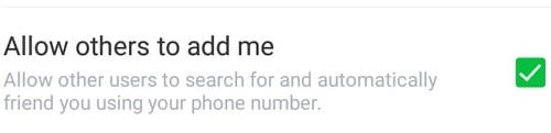 allow others to add me