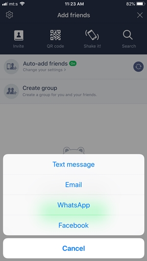 line chat app how to add friend