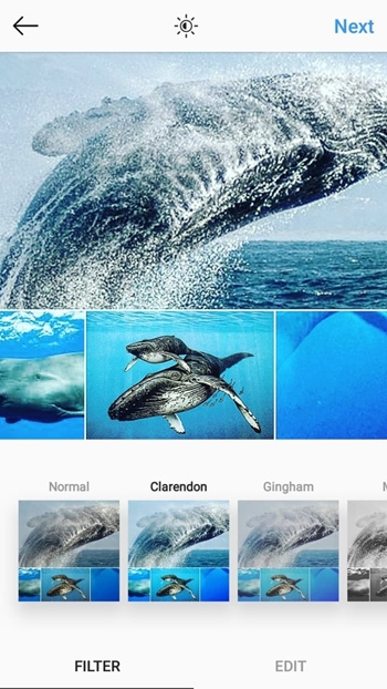 make a photo collage like an Instagram post