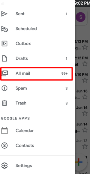 mobille all mail