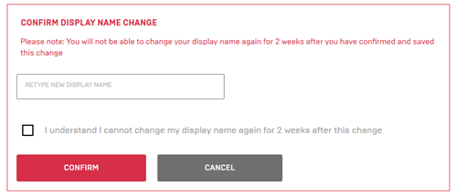 Retype display name