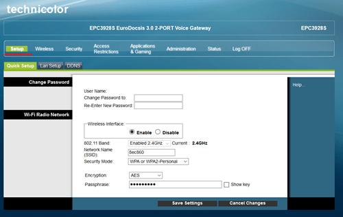 Router site setup