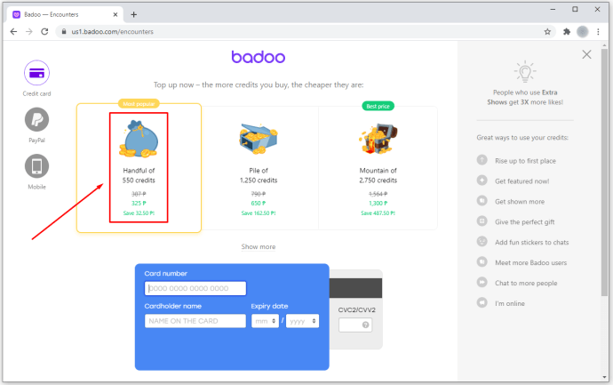 How To Get Free Credits for Badoo