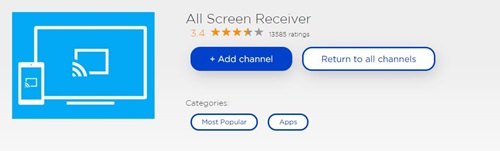 All Screen Receiver Roku