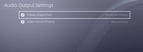 Primary Outp[ut Port