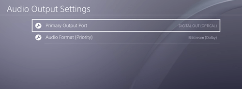 Primary Outp[ut Port
