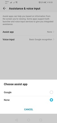 Select Assistant App