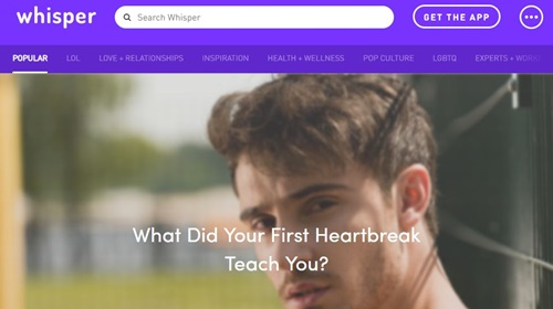 Whisper Front Page