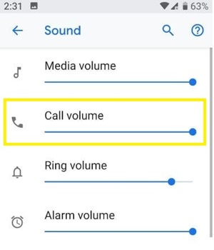 call volume