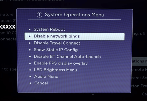disable network pings