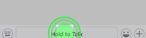Hold on to talk