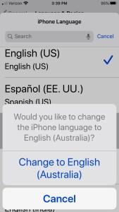 Настройки iOS и язык