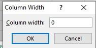 Set the width