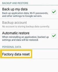 factory data reset