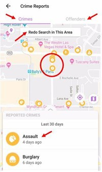 crime reports map