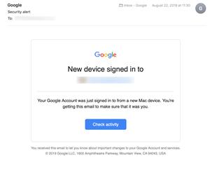 google check activity